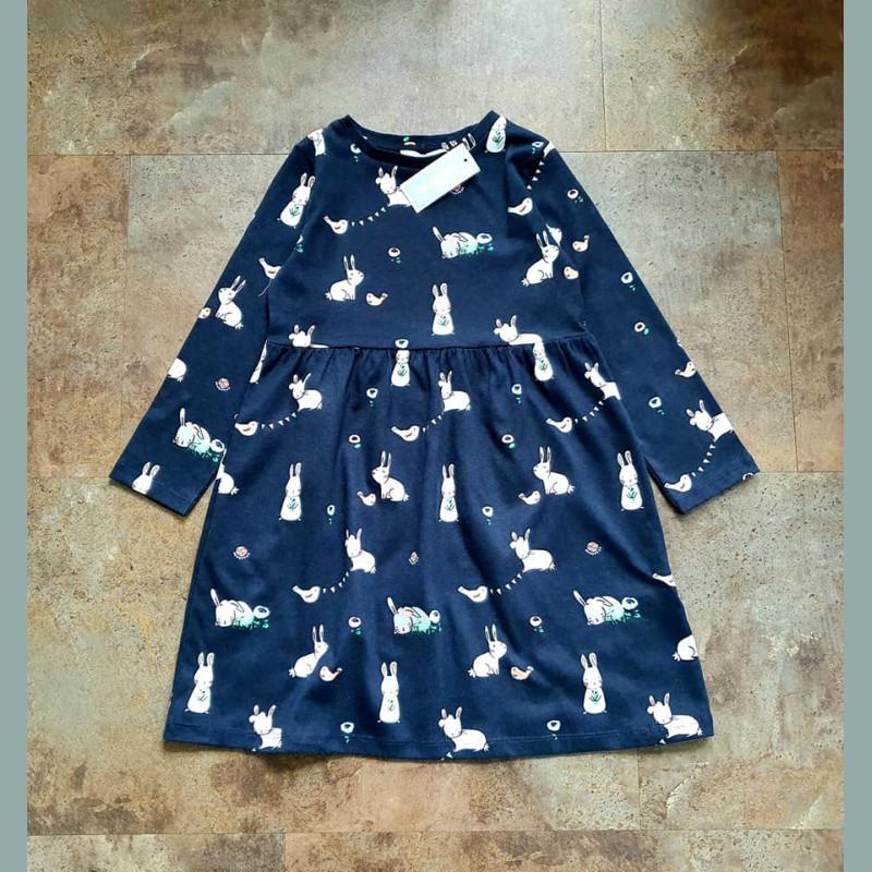 Bluezoo Maedchen Kleid Langarm Hasen Blau Englandmode Baby Kinder Kleidung Kinderladen Muenchen Secondhand George Matalan Tu Next Zara Hundm